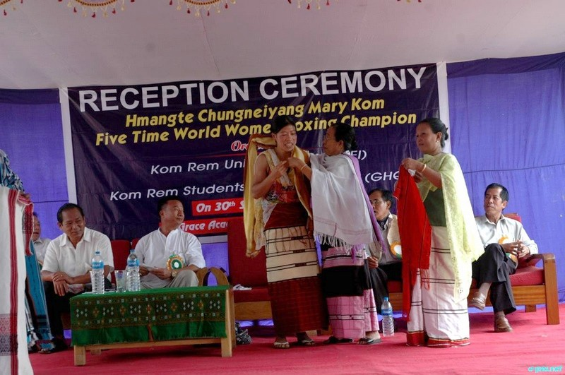 Reception for MC Mary Kom by Kom Rem Union Manipur at Imphal :: 30 September 2010