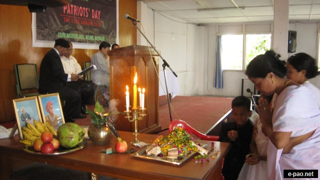 Offering of Floral Tribute on 13th Aug 2011 by AMMA, Aizawl, Mizoram