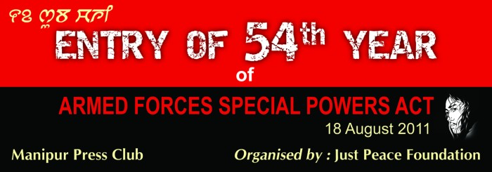 54th Year Of Armed Forces Special Powers Act in Manipur