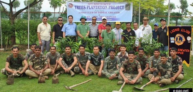 300 Trees Planted At 109 Bn CRPF Complex by Lions Club of Imphal Greater