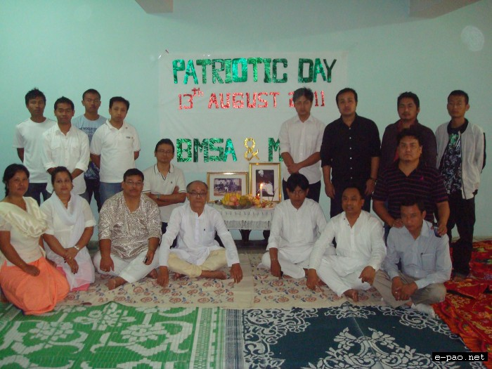 Bangalore Manipur Students' Association(BMSA) and Manipuri Meitei Association Bangalore (MMAB) observed Patriots' Day at Bangalore on 13th Aug 2011