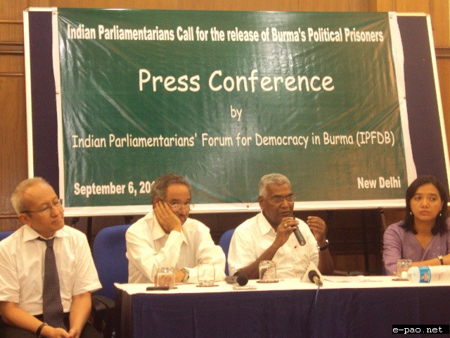 Indian Parliamentarians Press Statement on Political Prisoners and National Reconciliation in Burma