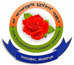 Evergreen Flowers' School (EGF), Thoubal Logo