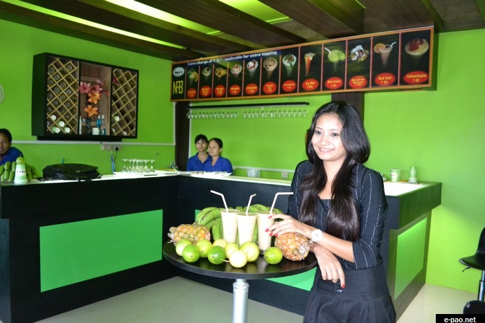 Miss Soma Laishram at the New Product launching of Boss Juices from Nahakpam Foods & Beverages , Imphal