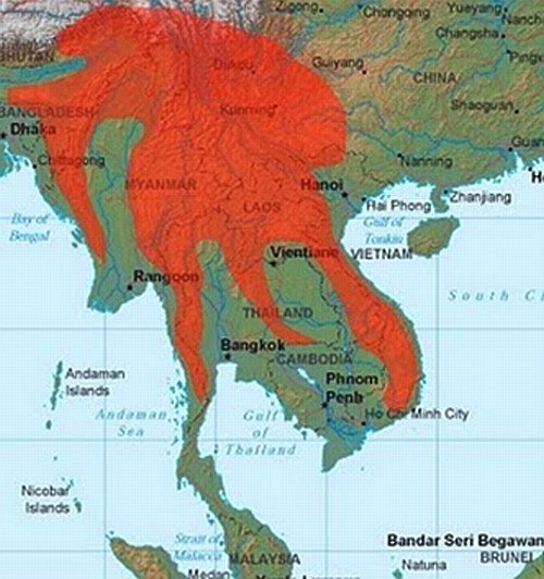 South Eas Asia Map
