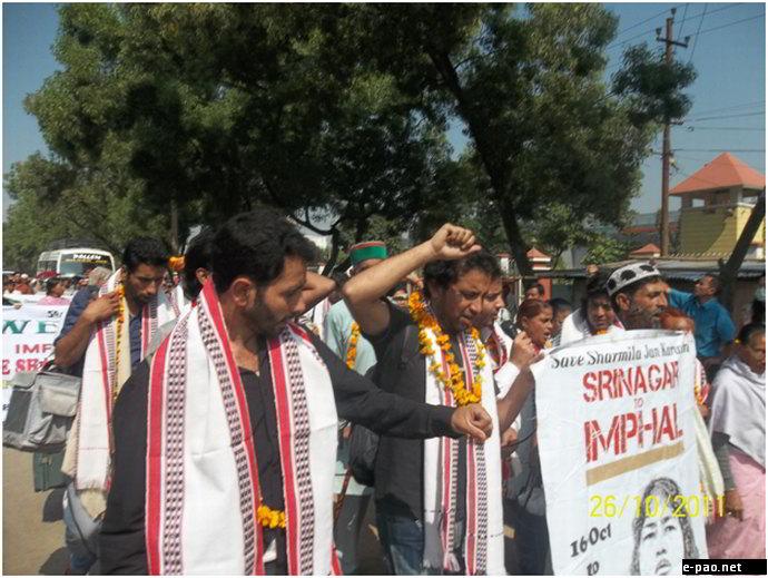Save Irom Sharmila Jan Karwan reached Imphal