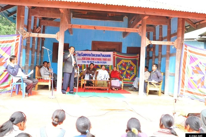 Free Computer Education Programme 2011 by  Kakching Educational Trust