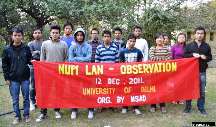 Observance programme of Nupi Lan  by MSAD at Delhi