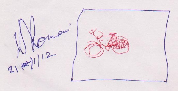 Baba Romoni's Sketch of Ladies Bicycle