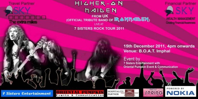 Higher On Maiden live @ Imphal (Revival) - Seven Sisters Winter Rock Tour 2011