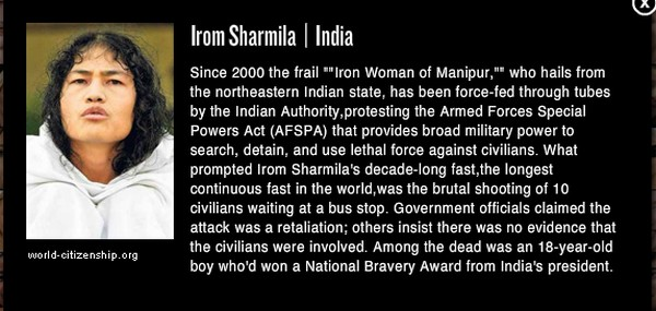Irom Sharmila included in 150 Women Who Shake the World - Newsweek (US Edition)