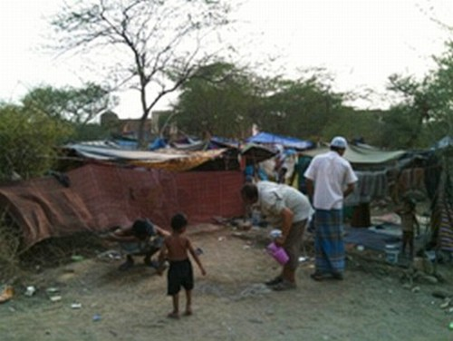 Rohingyas camp at New Delhi