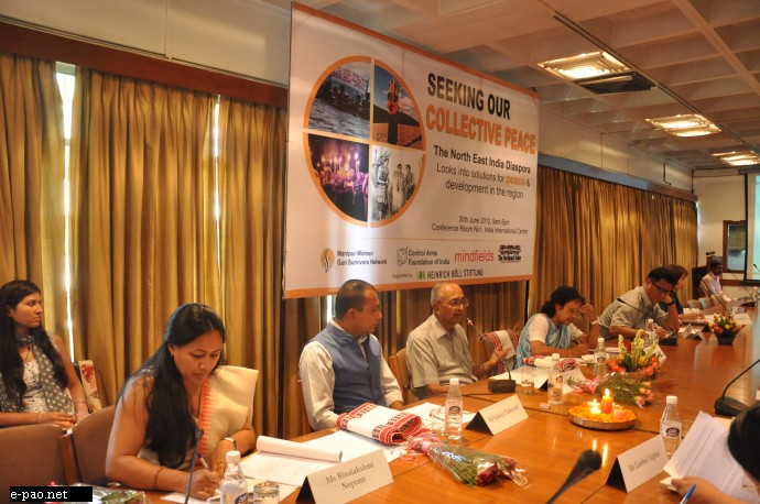 Meeting on peace building process in North Eastern states of India on 30 June 2012 at India International Centre, New Delhi