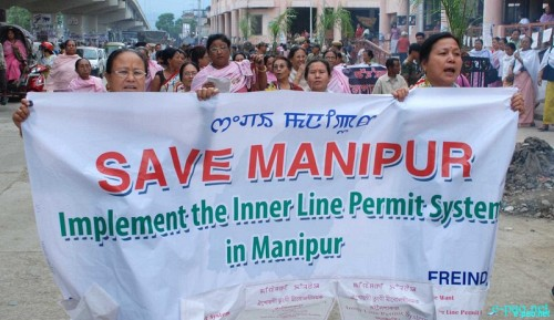 Demand for Inner Line Permit (ILP) System in Manipur