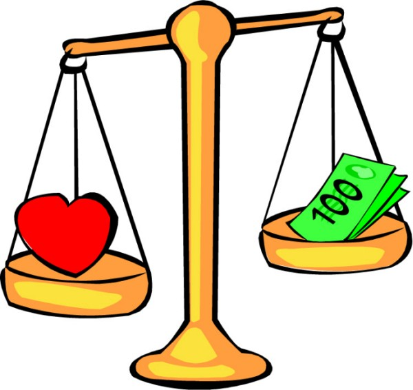 Love Vs Money in Relation