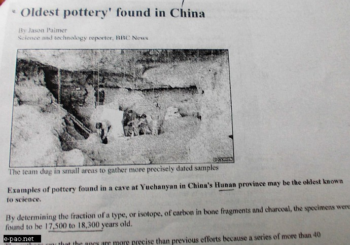 Oldest Pottery found in China