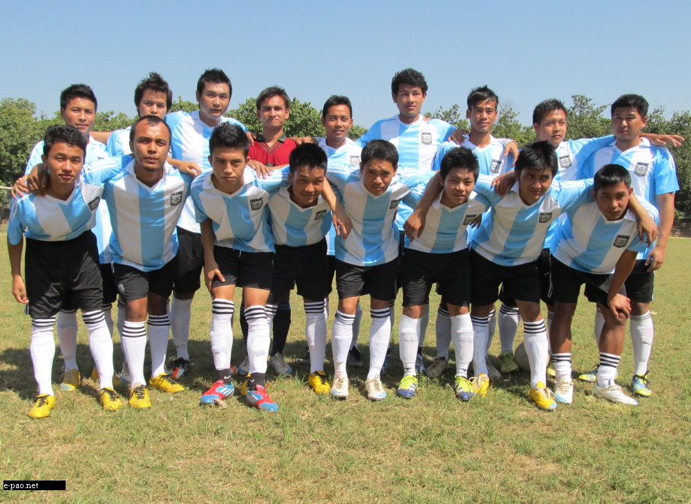 Manipur United Team at the 1st Lalchandama Memorial Football Tournament