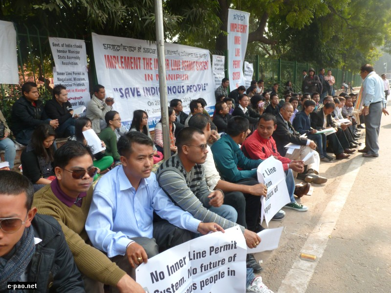 Delhi Demonstration on ILP System in Manipur on Nov 25 2012
