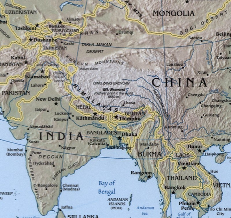Sino india relation impact on north eastern india 1947 to 2011 part 2 india china map gumiabroncs Choice Image