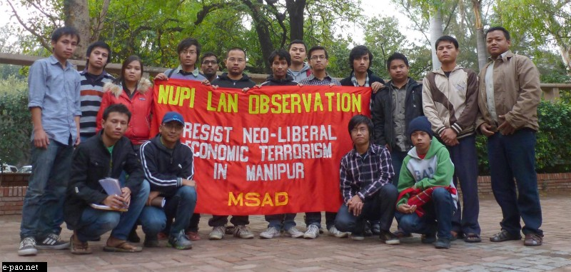 Nupi Lan day obseravation 2012 at New Delhi by MSAD