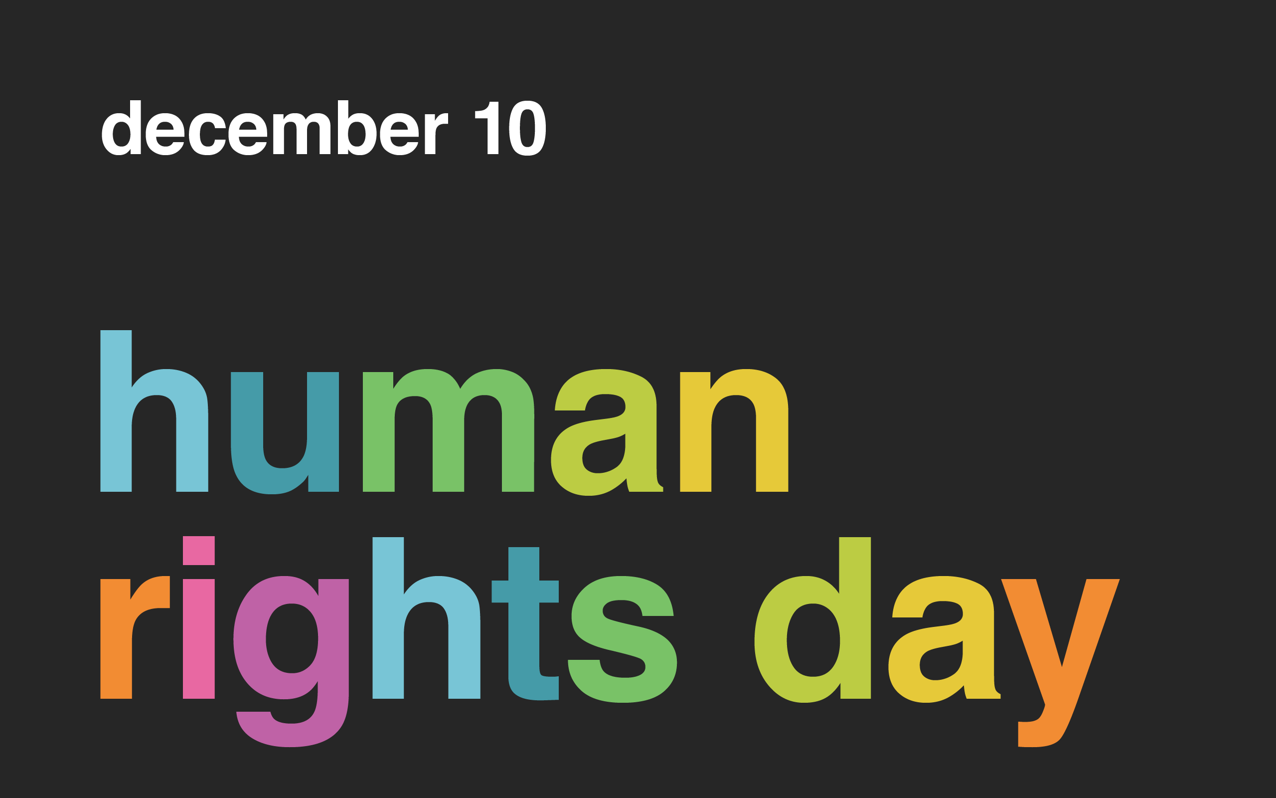 'International Human Rights Day 2012